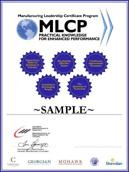 Get Involved   Manufacturing Leadership Certificate Program